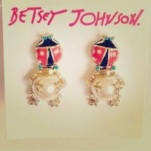 New Betsey Johnson frog 🐸 & ladybug 🐞earring set